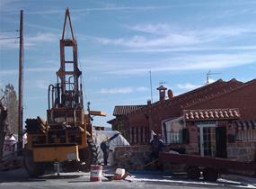 Perforación geotérmica para vivienda unifamiliar Toledo